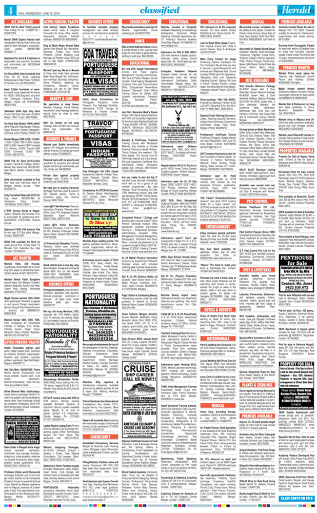 o herald o classifieds newspaper ad online booking