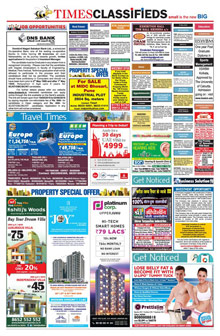 Times of India Classified Epaper