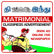 The Hindu Tamil Matrimonial Classified Ad Booking Online