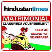 Hindustan Times Matrimonial Classifieds Booking