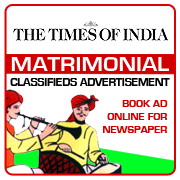 Times of India Matrimonial Classifieds Booking